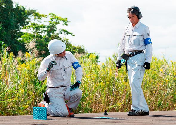 施設内の漏水調査について