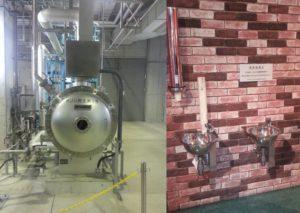 オゾン発生器と高度処理水テイスティング