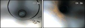 給水管内視鏡カメラ調査 管内状況