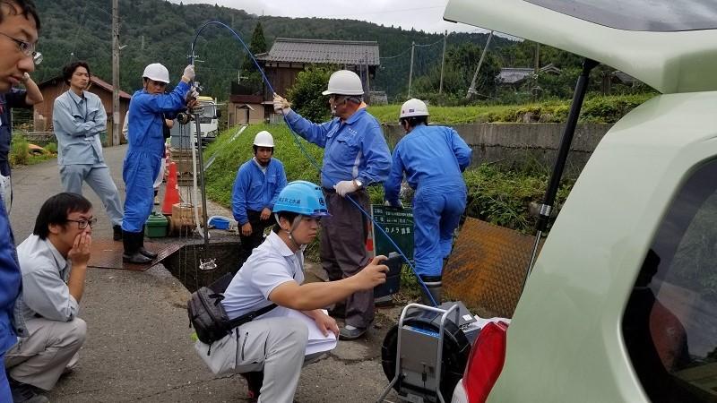 滋賀県で特殊洗管(SCOPE工法)を実施しました